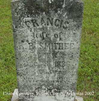 SMITHEE, FRANCIS - Fulton County, Arkansas | FRANCIS SMITHEE - Arkansas Gravestone Photos