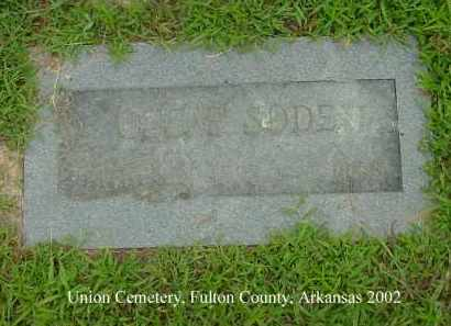 SODEN, OSCAR - Fulton County, Arkansas | OSCAR SODEN - Arkansas Gravestone Photos