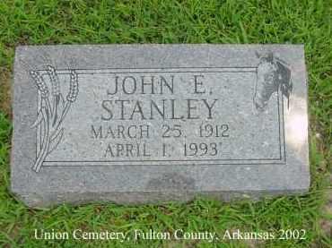 STANLEY, JOHN E. - Fulton County, Arkansas | JOHN E. STANLEY - Arkansas Gravestone Photos