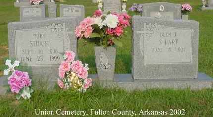 STUART, RUBY LUCINDA - Fulton County, Arkansas | RUBY LUCINDA STUART - Arkansas Gravestone Photos