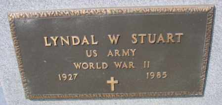 STUART (VETERAN WWII), LYNDAL W - Fulton County, Arkansas | LYNDAL W STUART (VETERAN WWII) - Arkansas Gravestone Photos