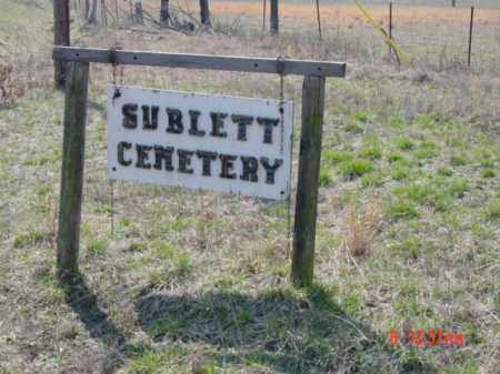 *SUBLETT CEMETERY SIGN,  - Fulton County, Arkansas |  *SUBLETT CEMETERY SIGN - Arkansas Gravestone Photos