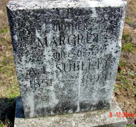 SUBLETT, MARGRET ESTHER (WOODS) - Fulton County, Arkansas | MARGRET ESTHER (WOODS) SUBLETT - Arkansas Gravestone Photos