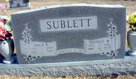 SUBLETT, MACE P - Fulton County, Arkansas | MACE P SUBLETT - Arkansas Gravestone Photos