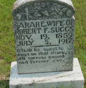 SUGGS, SARAH E. - Fulton County, Arkansas | SARAH E. SUGGS - Arkansas Gravestone Photos
