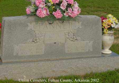 TANNER, PETER - Fulton County, Arkansas | PETER TANNER - Arkansas Gravestone Photos