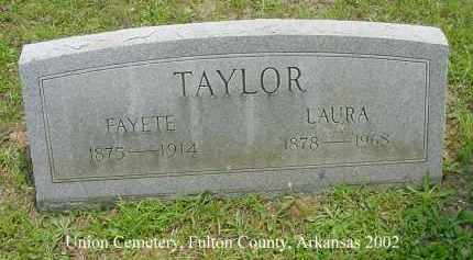TAYLOR, LAURA - Fulton County, Arkansas | LAURA TAYLOR - Arkansas Gravestone Photos