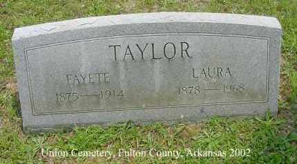 TAYLOR, LAURA - Fulton County, Arkansas | LAURA TAYLOR - Arkansas Gravestone Photos