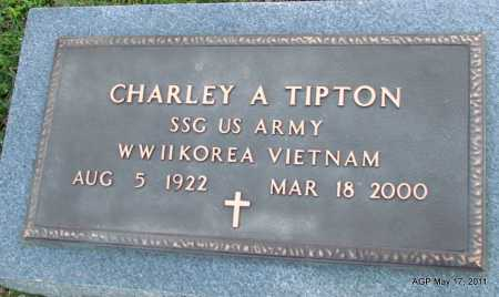 TIPTON (VETERAN 3 WARS), CHARLEY A - Fulton County, Arkansas | CHARLEY A TIPTON (VETERAN 3 WARS) - Arkansas Gravestone Photos
