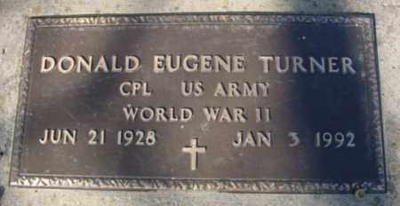 TURNER (VETERAN WWII), DONALD EUGENE - Fulton County, Arkansas | DONALD EUGENE TURNER (VETERAN WWII) - Arkansas Gravestone Photos