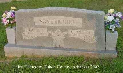 VANDERPOOL, GEORGE O. - Fulton County, Arkansas | GEORGE O. VANDERPOOL - Arkansas Gravestone Photos