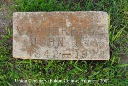 VANDERPOOL, JOHN R. - Fulton County, Arkansas | JOHN R. VANDERPOOL - Arkansas Gravestone Photos