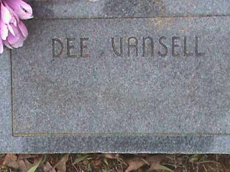 VANSELL, DEE - Fulton County, Arkansas | DEE VANSELL - Arkansas Gravestone Photos
