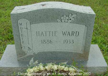 WARD, HATTIE - Fulton County, Arkansas | HATTIE WARD - Arkansas Gravestone Photos