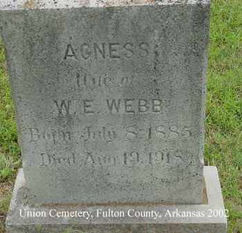WEBB, AGNESS - Fulton County, Arkansas | AGNESS WEBB - Arkansas Gravestone Photos