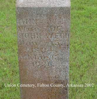WEBB, ANN W. - Fulton County, Arkansas | ANN W. WEBB - Arkansas Gravestone Photos