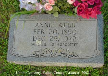 WEBB, ANNIE - Fulton County, Arkansas | ANNIE WEBB - Arkansas Gravestone Photos