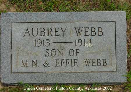 WEBB, AUBREY - Fulton County, Arkansas | AUBREY WEBB - Arkansas Gravestone Photos