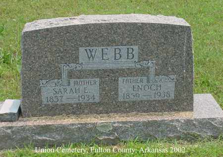 WEBB, ENOCH - Fulton County, Arkansas | ENOCH WEBB - Arkansas Gravestone Photos