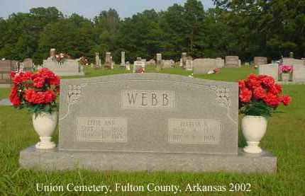 WEBB, EFFIE ANN ELIZABETH - Fulton County, Arkansas | EFFIE ANN ELIZABETH WEBB - Arkansas Gravestone Photos
