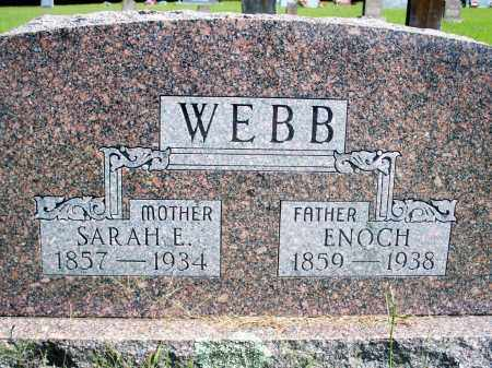WEBB, SARAH E. - Fulton County, Arkansas | SARAH E. WEBB - Arkansas Gravestone Photos