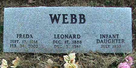 WEBB, FREDA - Fulton County, Arkansas | FREDA WEBB - Arkansas Gravestone Photos