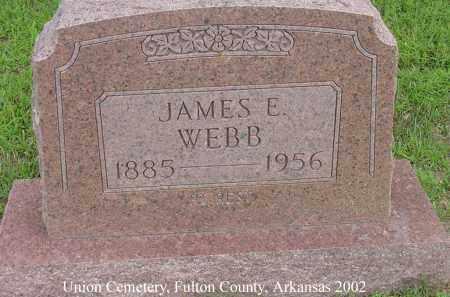 WEBB, JAMES ENOCH - Fulton County, Arkansas | JAMES ENOCH WEBB - Arkansas Gravestone Photos