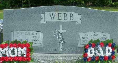 WEBB, JAMES RAYBURN - Fulton County, Arkansas | JAMES RAYBURN WEBB - Arkansas Gravestone Photos