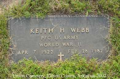 WEBB  (VETERAN WWII), KEITH H - Fulton County, Arkansas | KEITH H WEBB  (VETERAN WWII) - Arkansas Gravestone Photos