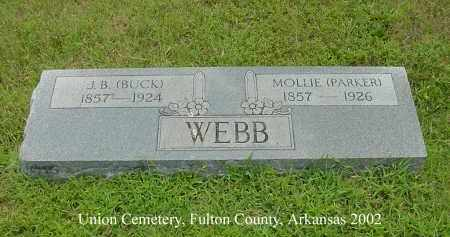 PARKER WEBB, MOLLIE - Fulton County, Arkansas | MOLLIE PARKER WEBB - Arkansas Gravestone Photos