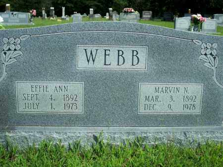 WEBB, MARVIN N. - Fulton County, Arkansas | MARVIN N. WEBB - Arkansas Gravestone Photos