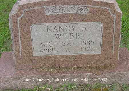 JONES WEBB, NANCY ADELINE - Fulton County, Arkansas | NANCY ADELINE JONES WEBB - Arkansas Gravestone Photos