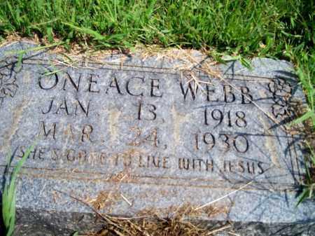 WEBB, ONEACE - Fulton County, Arkansas | ONEACE WEBB - Arkansas Gravestone Photos