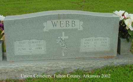 WEBB, RUBY SUBLETT - Fulton County, Arkansas | RUBY SUBLETT WEBB - Arkansas Gravestone Photos
