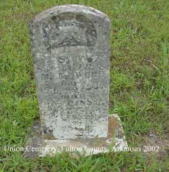 WEBB, S. W. - Fulton County, Arkansas | S. W. WEBB - Arkansas Gravestone Photos