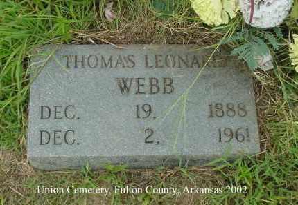 WEBB, THOMAS LEONARD - Fulton County, Arkansas | THOMAS LEONARD WEBB - Arkansas Gravestone Photos