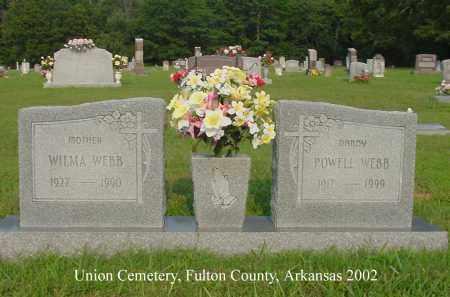 WEBB, WILMA - Fulton County, Arkansas | WILMA WEBB - Arkansas Gravestone Photos