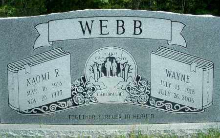 WEBB, WAYNE - Fulton County, Arkansas | WAYNE WEBB - Arkansas Gravestone Photos