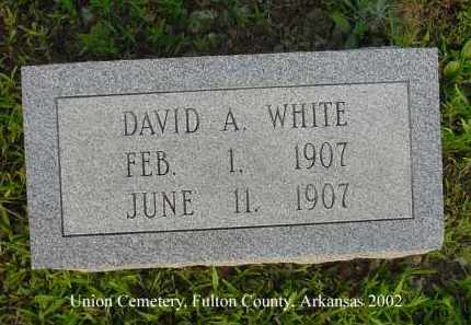WHITE, DAVID A. - Fulton County, Arkansas | DAVID A. WHITE - Arkansas Gravestone Photos
