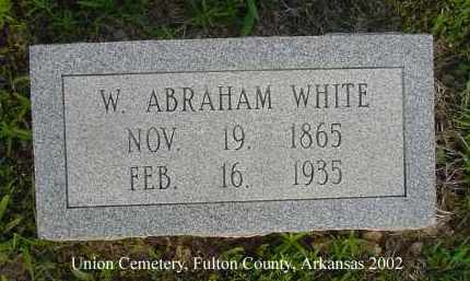 WHITE, WESLEY ABRAHAM - Fulton County, Arkansas | WESLEY ABRAHAM WHITE - Arkansas Gravestone Photos