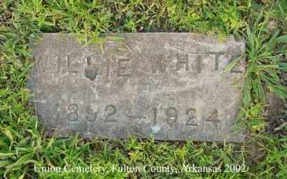 WHITE, WILLIE - Fulton County, Arkansas | WILLIE WHITE - Arkansas Gravestone Photos