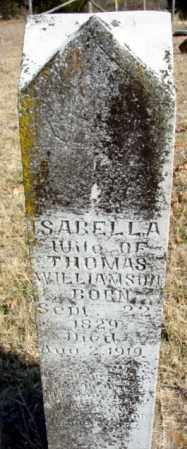 WILLIAMSON, ISABELLA - Fulton County, Arkansas | ISABELLA WILLIAMSON - Arkansas Gravestone Photos