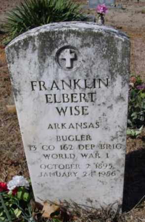 WISE (VETERAN WWI), FRANKLIN ELBERT - Fulton County, Arkansas | FRANKLIN ELBERT WISE (VETERAN WWI) - Arkansas Gravestone Photos