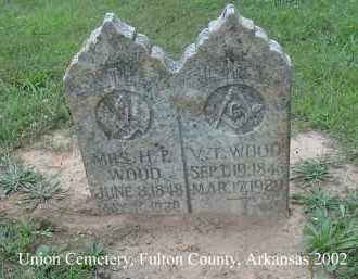 WOOD, VALENTINE T. - Fulton County, Arkansas | VALENTINE T. WOOD - Arkansas Gravestone Photos