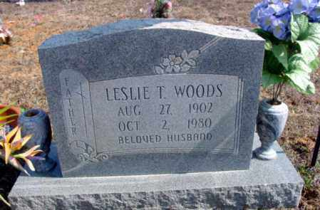 WOODS, LESLIE T. - Fulton County, Arkansas | LESLIE T. WOODS - Arkansas Gravestone Photos