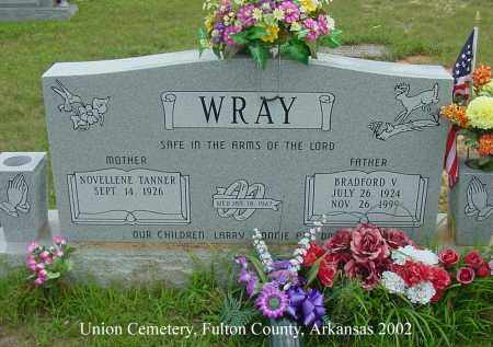 WRAY, BRADFORD VERNON - Fulton County, Arkansas | BRADFORD VERNON WRAY - Arkansas Gravestone Photos