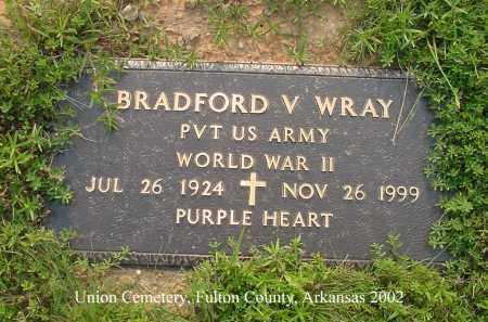 WRAY  (VETERAN WWII), BRADFORD VERNON - Fulton County, Arkansas | BRADFORD VERNON WRAY  (VETERAN WWII) - Arkansas Gravestone Photos
