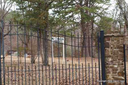 *MC CLENDON CEMETERY, GATE & DIRECTIONS - Garland County, Arkansas | GATE & DIRECTIONS *MC CLENDON CEMETERY - Arkansas Gravestone Photos
