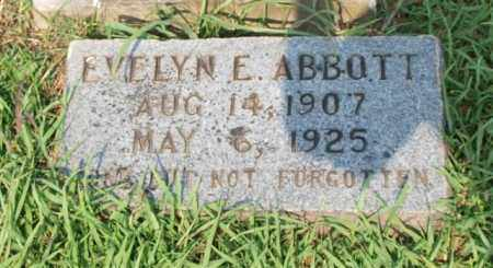 ABBOTT, EVELYN E. - Garland County, Arkansas | EVELYN E. ABBOTT - Arkansas Gravestone Photos