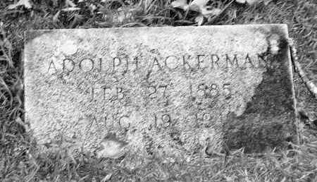 ACKERMAN, ADOLPH - Garland County, Arkansas | ADOLPH ACKERMAN - Arkansas Gravestone Photos